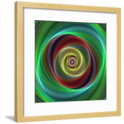 Colorful Abstract Geometric Spiral Design Background-David Zydd-Framed Photographic Print