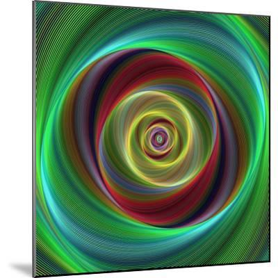 Colorful Abstract Geometric Spiral Design Background-David Zydd-Mounted Photographic Print