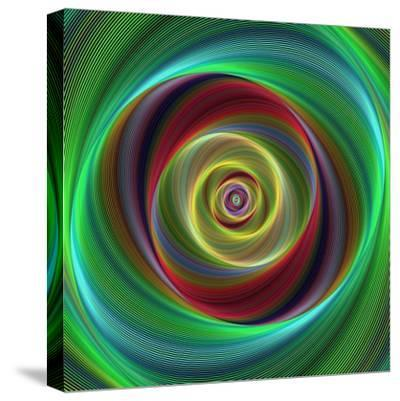 Colorful Abstract Geometric Spiral Design Background-David Zydd-Stretched Canvas Print