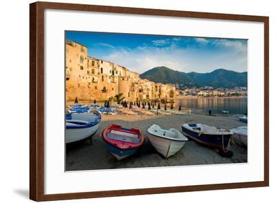 View of the Old Town. Cefalu, Sicily-James Lange-Framed Photographic Print
