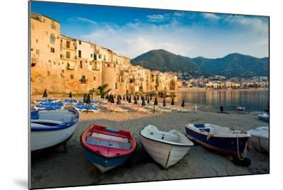 View of the Old Town. Cefalu, Sicily-James Lange-Mounted Photographic Print