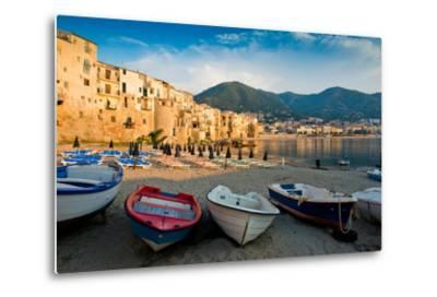 View of the Old Town. Cefalu, Sicily-James Lange-Metal Print