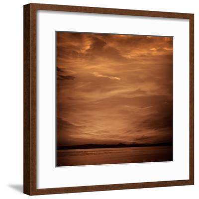 La Albufera Lake Sunset in El Saler of Valencia at Spain-Naturewolrd-Framed Photographic Print