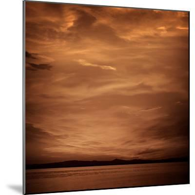 La Albufera Lake Sunset in El Saler of Valencia at Spain-Naturewolrd-Mounted Photographic Print
