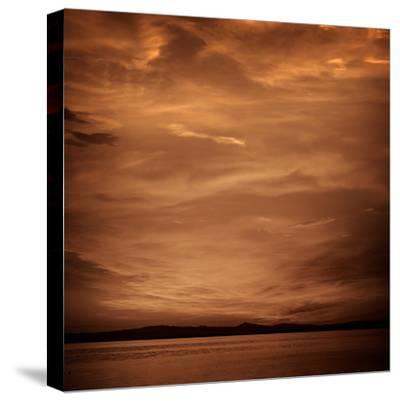 La Albufera Lake Sunset in El Saler of Valencia at Spain-Naturewolrd-Stretched Canvas Print