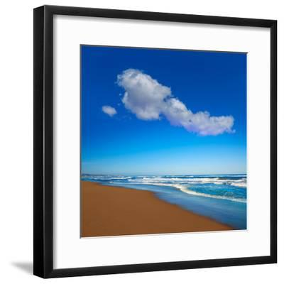 Tavernes De Valldigna Beach Dunes in Valencia of Spain-Naturewolrd-Framed Photographic Print