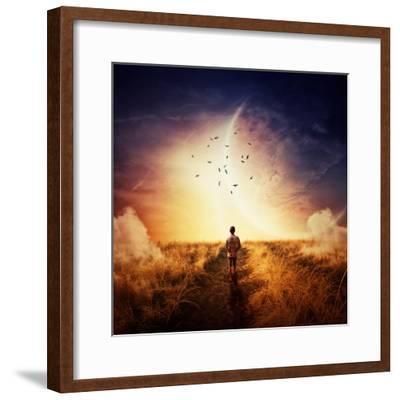 Boy Walking-Bordeianu Andrei-Framed Photographic Print