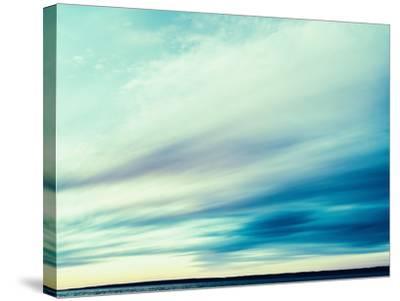Square Vintage Ocean Landscape Composition-Nickolay Loginov-Stretched Canvas Print