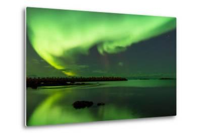 Northern Lights Near Eggum, Aurora Borealis, Eggum, Lofoten, Norway-Sonja Jordan-Metal Print