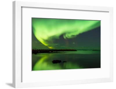 Northern Lights Near Eggum, Aurora Borealis, Eggum, Lofoten, Norway-Sonja Jordan-Framed Photographic Print