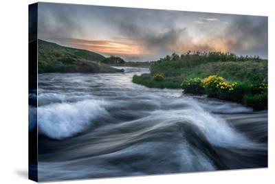 Laxa River in Thingeyjarsysla, Myvatn, Iceland-Ragnar Th Sigurdsson-Stretched Canvas Print