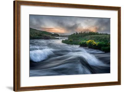 Laxa River in Thingeyjarsysla, Myvatn, Iceland-Ragnar Th Sigurdsson-Framed Photographic Print