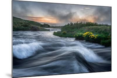 Laxa River in Thingeyjarsysla, Myvatn, Iceland-Ragnar Th Sigurdsson-Mounted Photographic Print