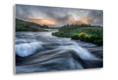 Laxa River in Thingeyjarsysla, Myvatn, Iceland-Ragnar Th Sigurdsson-Metal Print