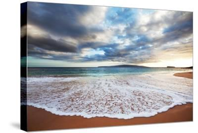 Sea on Sunset-Kamchatka-Stretched Canvas Print