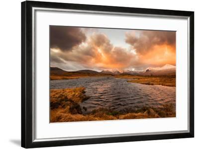 Golden Sunrise at Loch Ba in Glencoe, Scotland Uk-Tracey Whitefoot-Framed Photographic Print