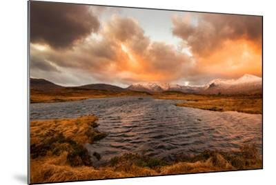 Golden Sunrise at Loch Ba in Glencoe, Scotland Uk-Tracey Whitefoot-Mounted Photographic Print