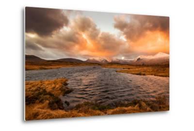 Golden Sunrise at Loch Ba in Glencoe, Scotland Uk-Tracey Whitefoot-Metal Print