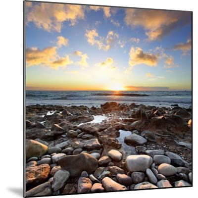 Beautiful Sunset at Atlantic Ocean. Tenerife, Canary Islands-Roman Sigaev-Mounted Photographic Print
