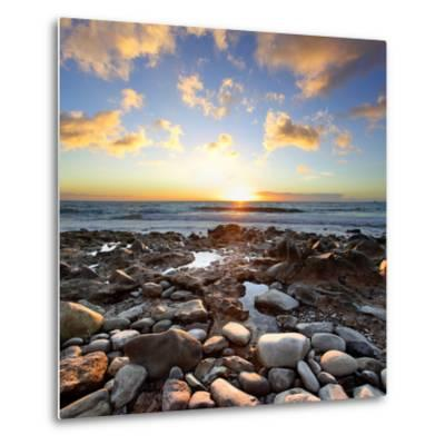 Beautiful Sunset at Atlantic Ocean. Tenerife, Canary Islands-Roman Sigaev-Metal Print