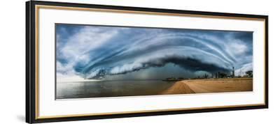 Australia, Redcliffe, Amazing Storm Cloud over Beach- Pete-Framed Photographic Print