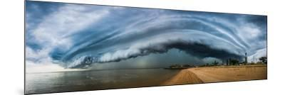 Australia, Redcliffe, Amazing Storm Cloud over Beach- Pete-Mounted Photographic Print