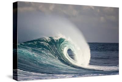 Wave Breaking in Ocean-Jefffarsai-Stretched Canvas Print