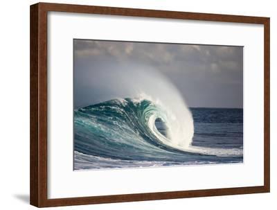 Wave Breaking in Ocean-Jefffarsai-Framed Photographic Print
