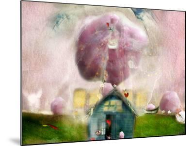 Conceptual Landscape with Cotton Candy, Animals and House- Karendivine-Mounted Photographic Print