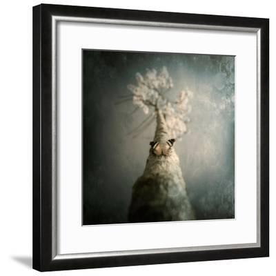 A Small Butterfly Sitting on a Tree with Overlaid Textures-Trigger Image-Framed Photographic Print