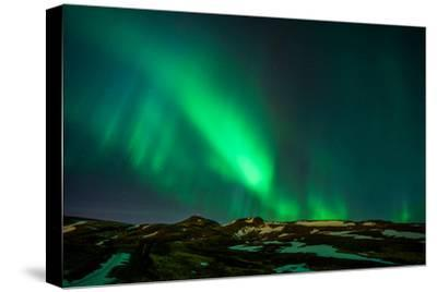 Northern Lights or Aurora Borealis over Mt. Ulfarsfell, Close to Reykjavik, Iceland-Arctic-Images-Stretched Canvas Print