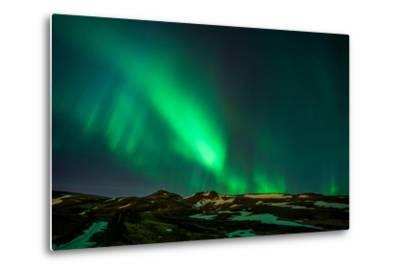 Northern Lights or Aurora Borealis over Mt. Ulfarsfell, Close to Reykjavik, Iceland-Arctic-Images-Metal Print