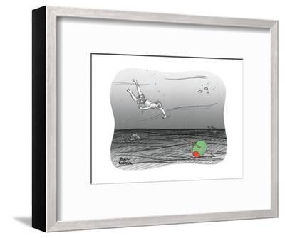 Diver reaches for martini olive. - New Yorker Cartoon-Paul Karasik-Framed Premium Giclee Print