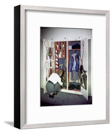 Specialized Closets Created by Architects George Nelson and Henry Wright, New York, NY 1945-Herbert Gehr-Framed Photographic Print