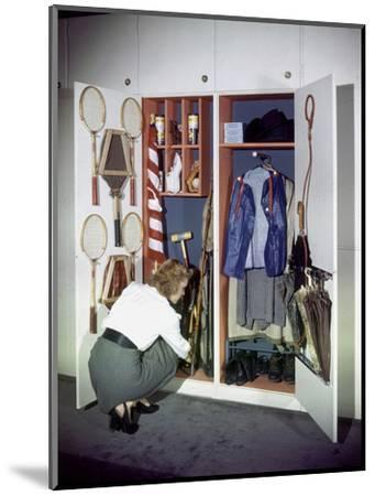 Specialized Closets Created by Architects George Nelson and Henry Wright, New York, NY 1945-Herbert Gehr-Mounted Photographic Print