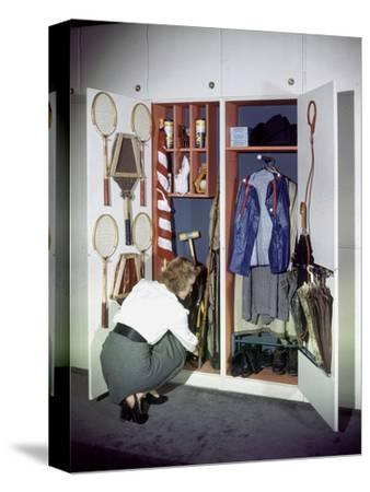 Specialized Closets Created by Architects George Nelson and Henry Wright, New York, NY 1945-Herbert Gehr-Stretched Canvas Print