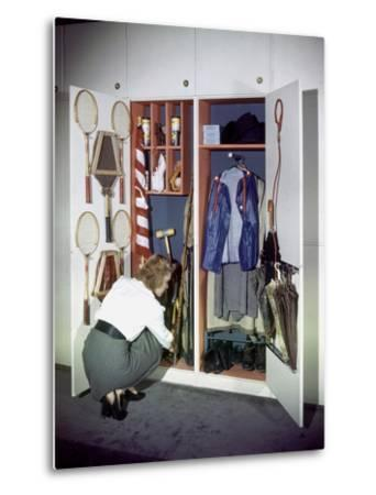 Specialized Closets Created by Architects George Nelson and Henry Wright, New York, NY 1945-Herbert Gehr-Metal Print