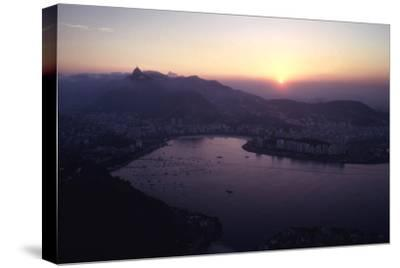 July 1973: Sunset Panoramic View of Rio De Janeiro, Brazil-Alfred Eisenstaedt-Stretched Canvas Print