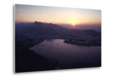 July 1973: Sunset Panoramic View of Rio De Janeiro, Brazil-Alfred Eisenstaedt-Metal Print