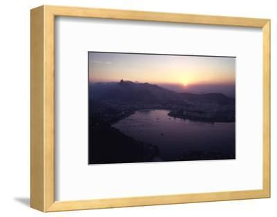 July 1973: Sunset Panoramic View of Rio De Janeiro, Brazil-Alfred Eisenstaedt-Framed Photographic Print