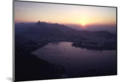 July 1973: Sunset Panoramic View of Rio De Janeiro, Brazil-Alfred Eisenstaedt-Mounted Photographic Print