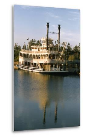 July 17 1955: Disneyland's Mark Twain River Boat, Anaheim, California-Loomis Dean-Metal Print