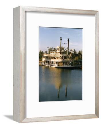 July 17 1955: Disneyland's Mark Twain River Boat, Anaheim, California-Loomis Dean-Framed Photographic Print