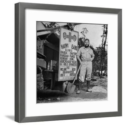 Portrait of Us Army Worker Ferdinand a Robichaux, Burma, July 1944-Bernard Hoffman-Framed Photographic Print