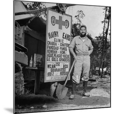 Portrait of Us Army Worker Ferdinand a Robichaux, Burma, July 1944-Bernard Hoffman-Mounted Photographic Print