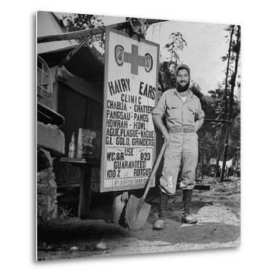 Portrait of Us Army Worker Ferdinand a Robichaux, Burma, July 1944-Bernard Hoffman-Metal Print