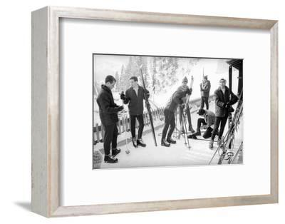 Students Getting in Car at Le Rosey School, Switzerland, 1965-Carlo Bavagnoli-Framed Photographic Print