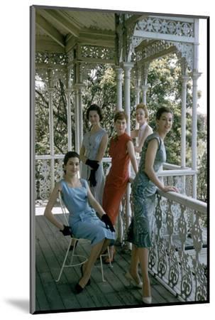 Australian Models Pose on a Porch, Melbourne, Australia, 1956-John Dominis-Mounted Photographic Print