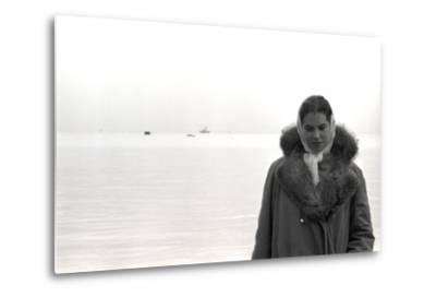 Carol Hall at Seattle's Fisherman's Wharf on a Misty Morning, Puget Sound, Seattle, Washington-Allan Grant-Metal Print