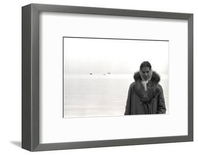 Carol Hall at Seattle's Fisherman's Wharf on a Misty Morning, Puget Sound, Seattle, Washington-Allan Grant-Framed Photographic Print